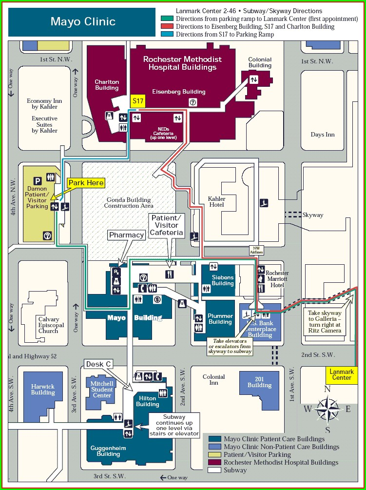 Methodist Hospital Campus Map