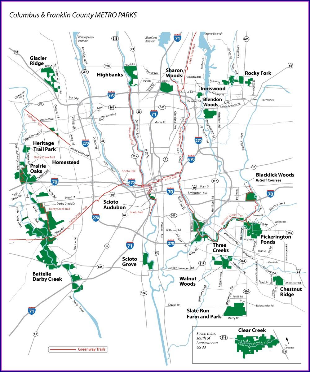 Metro Parks Map Ohio
