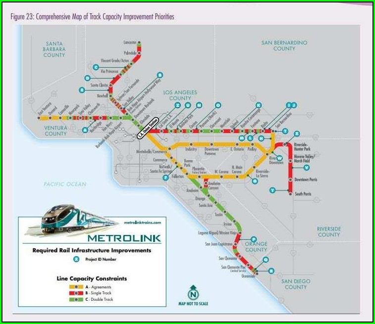 Metrolink Antelope Valley Line Map