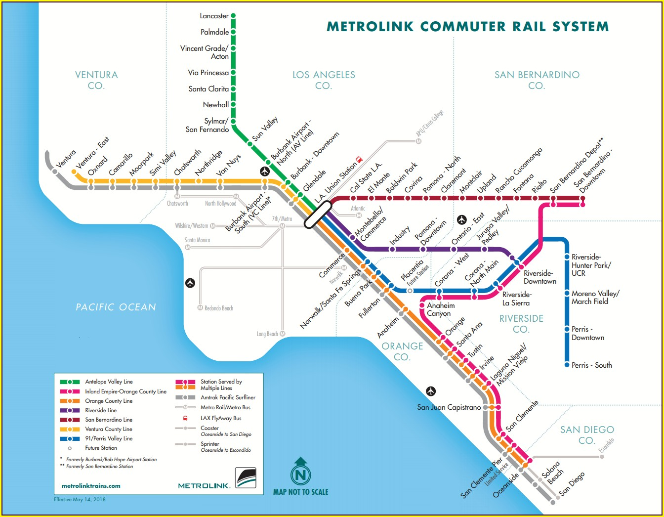 Metrolink Antelope Valley Map