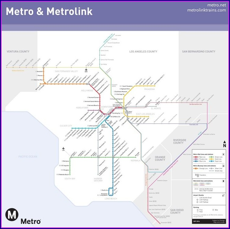 Metrolink Map Orange County