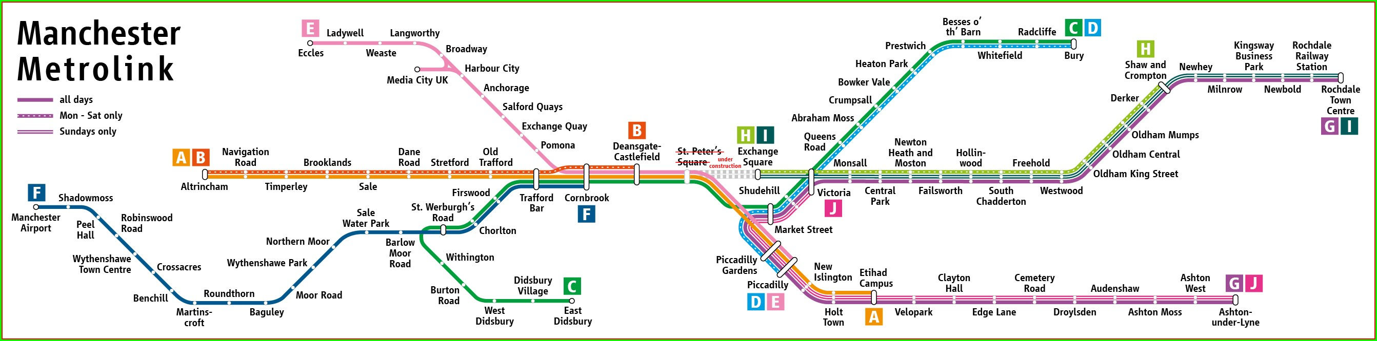 Metrolink Route Map Manchester