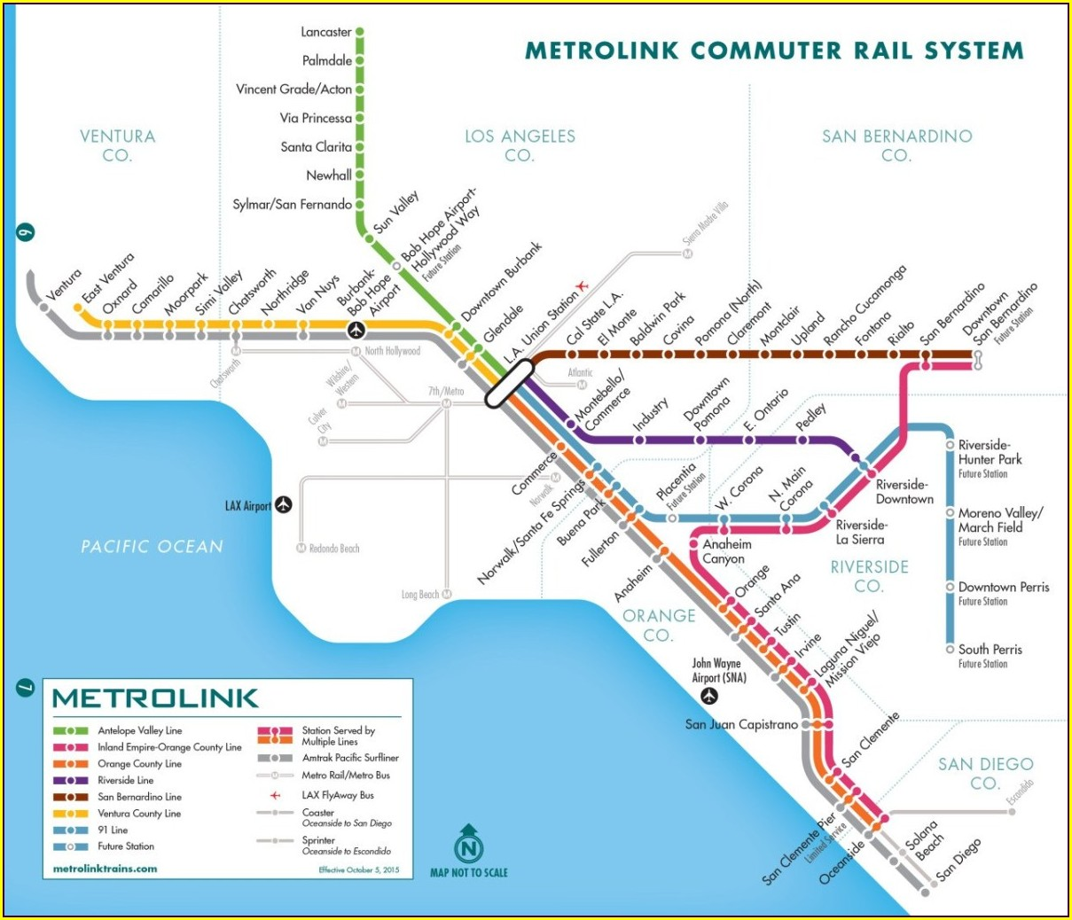 Metrolink Southern California Map