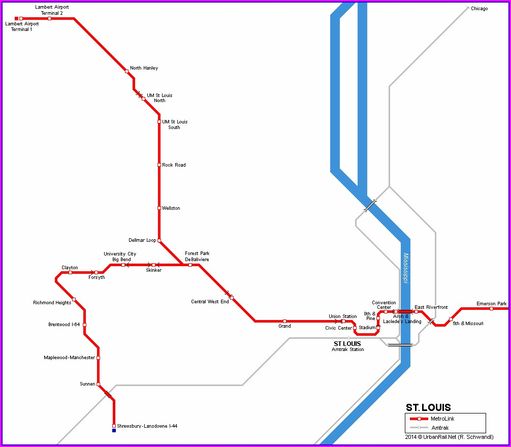 Metrolink Train Map St Louis