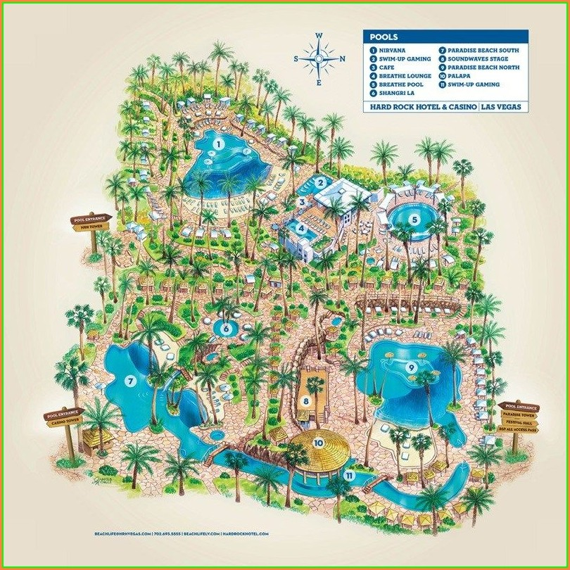 Mgm Grand Las Vegas Pool Map