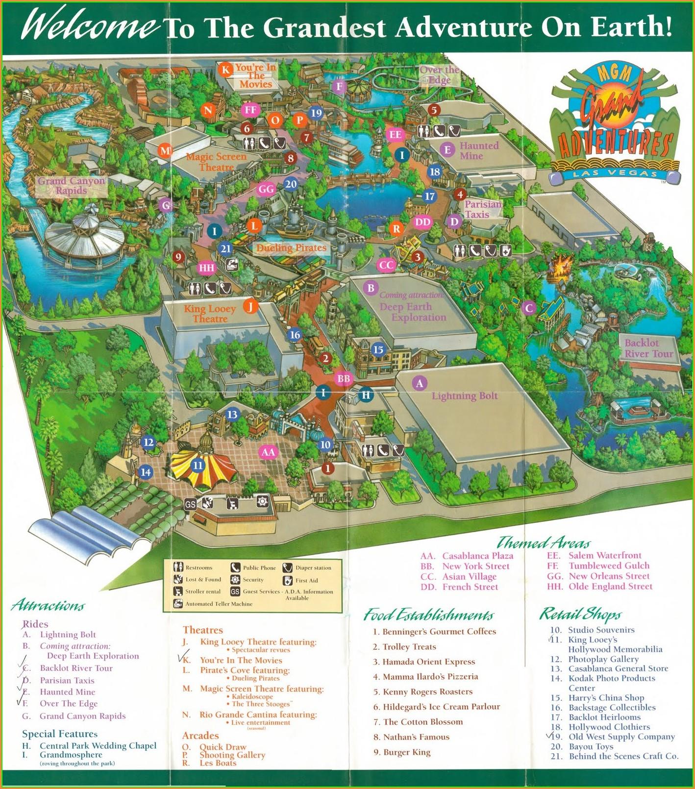 Mgm Grand Pool Map