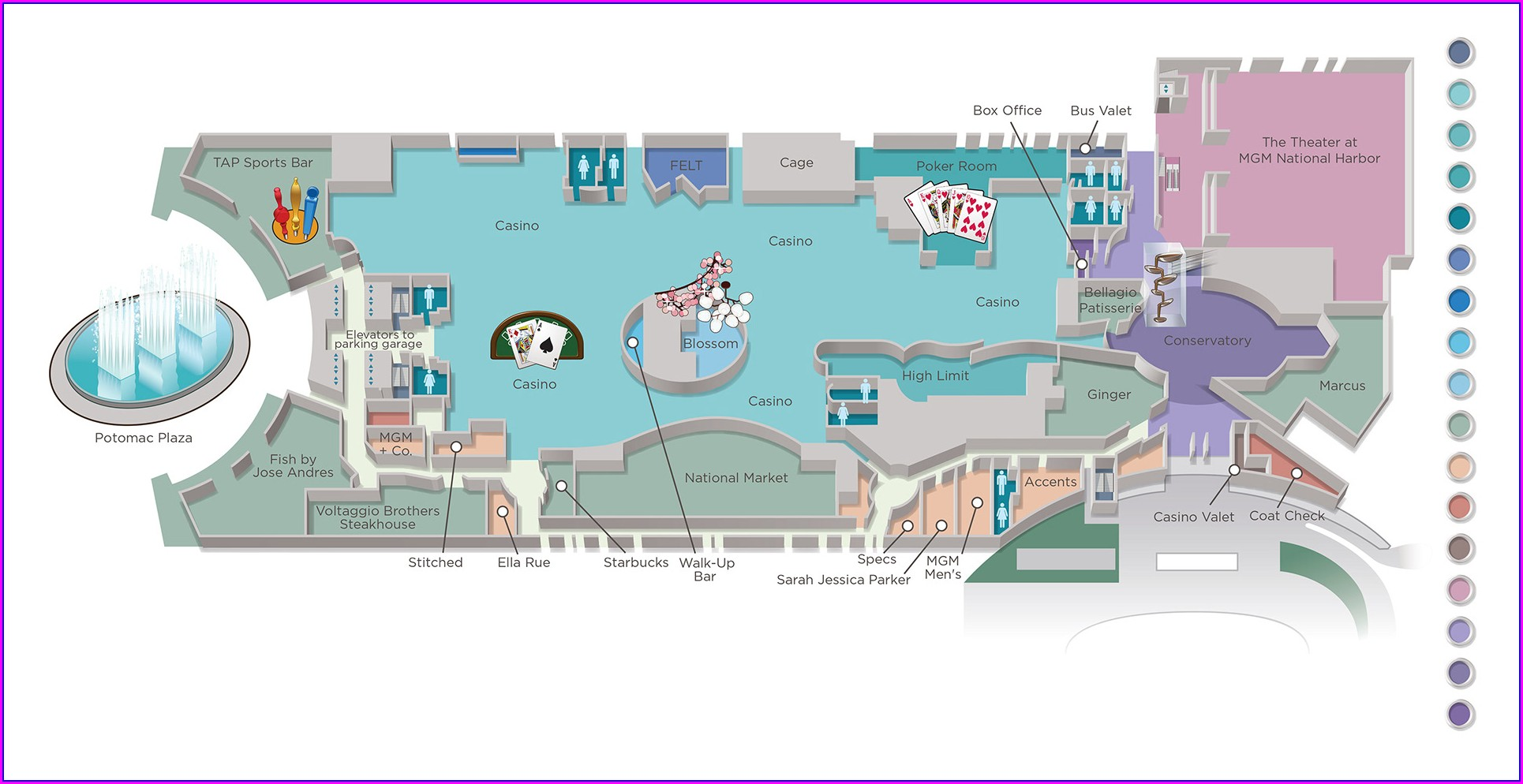 Mgm National Harbor Map