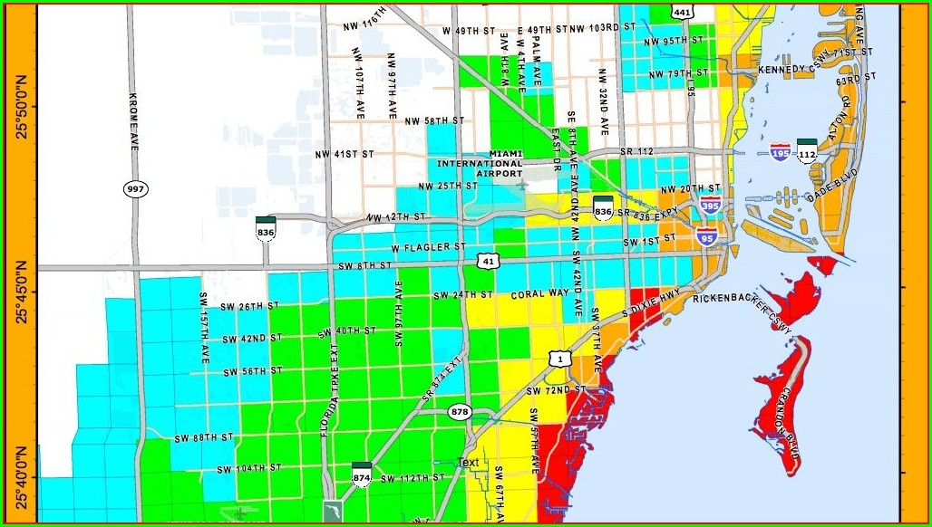 Miami Dade Flood Zone Map 2019