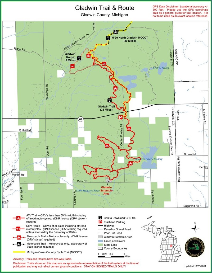Michigan Orv Maps Gps