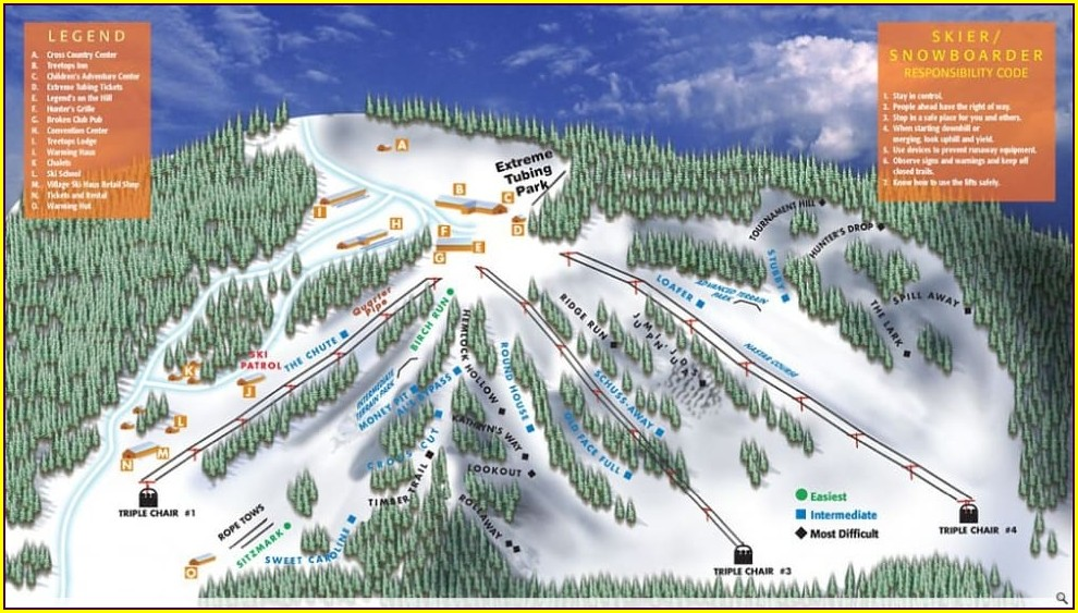 Michigan Ski Slopes Map