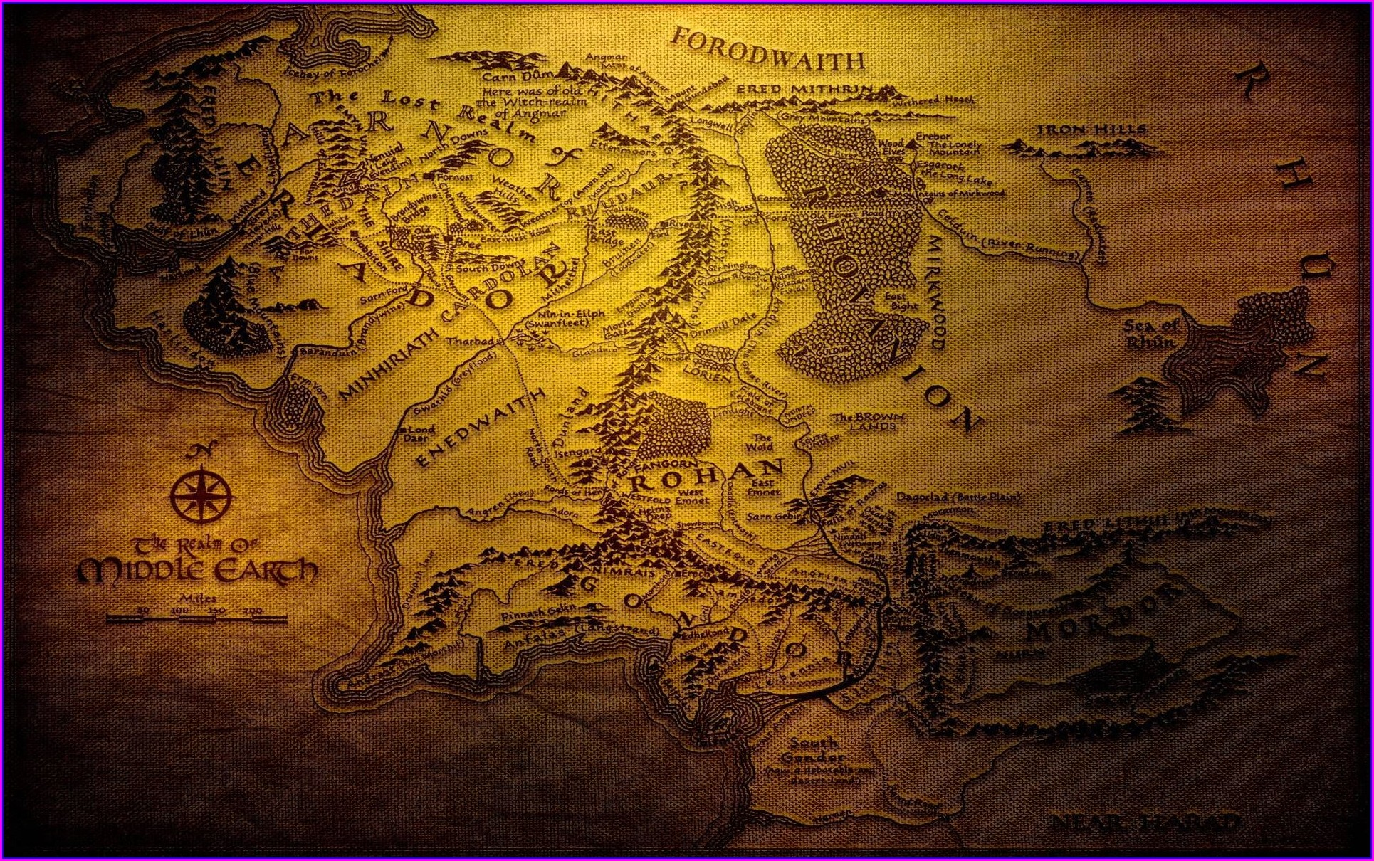 Middle Earth Map Hd Download