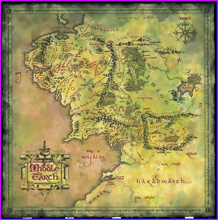 Middle Earth Map Hd