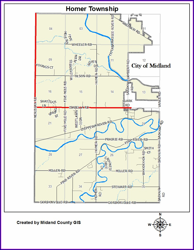 Midland County Gis Map