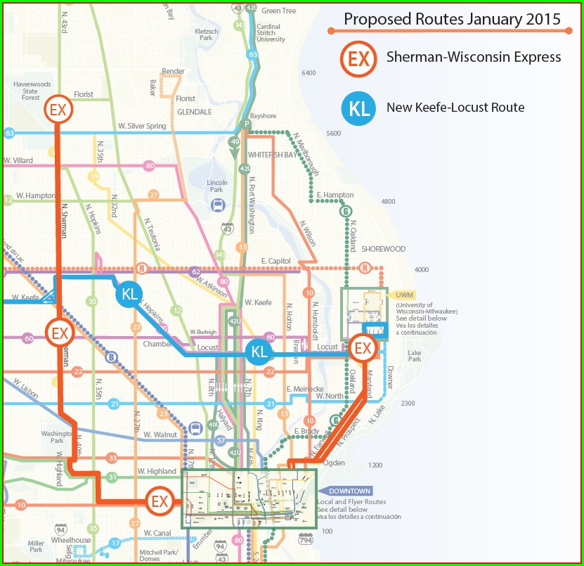 Milwaukee Bus Routes Map