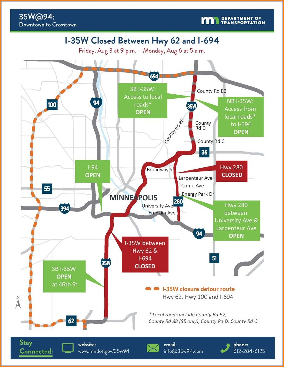 Mn Dot Road Closures Map