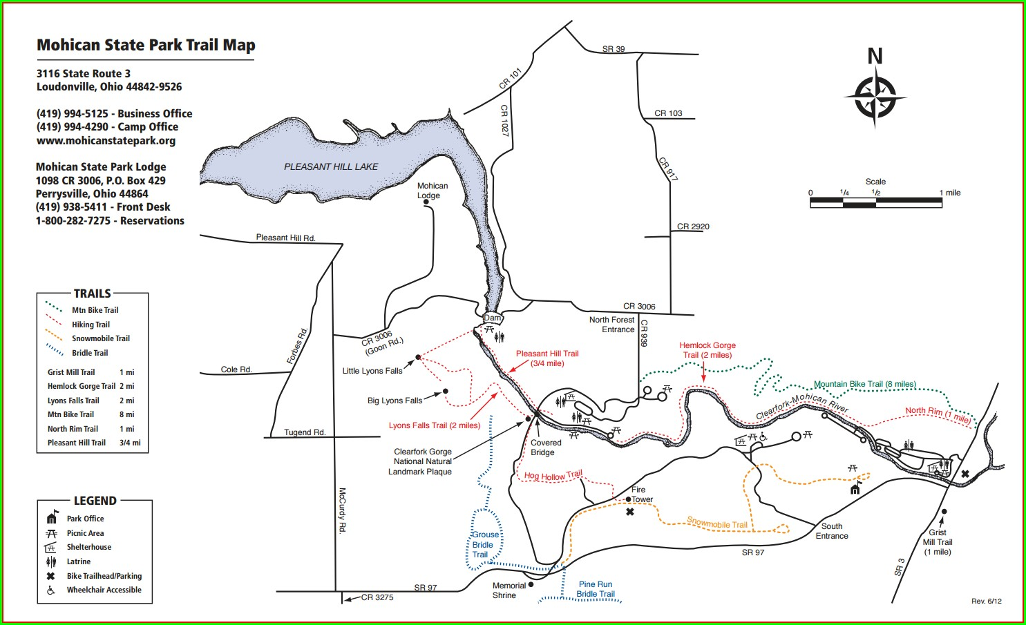 Mohican State Park Map