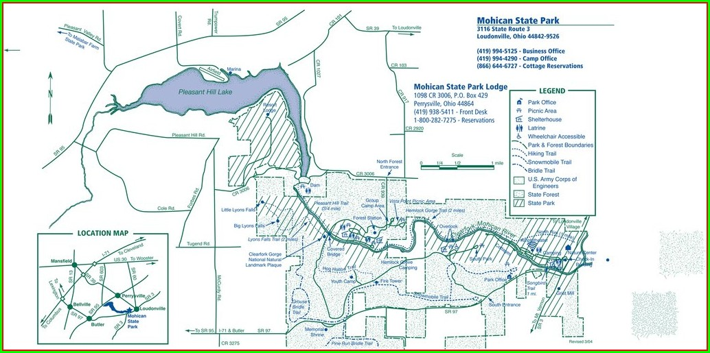 Mohican State Park Site Map