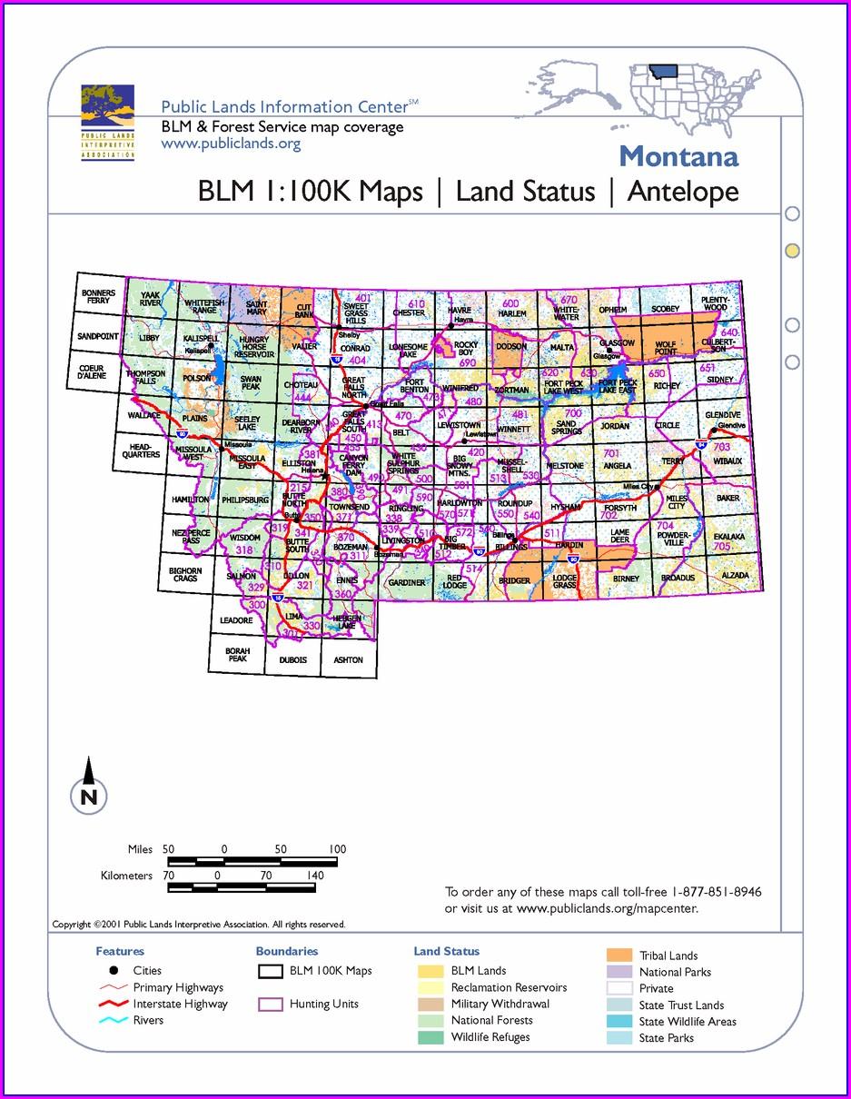 Montana Blm Maps Hunting