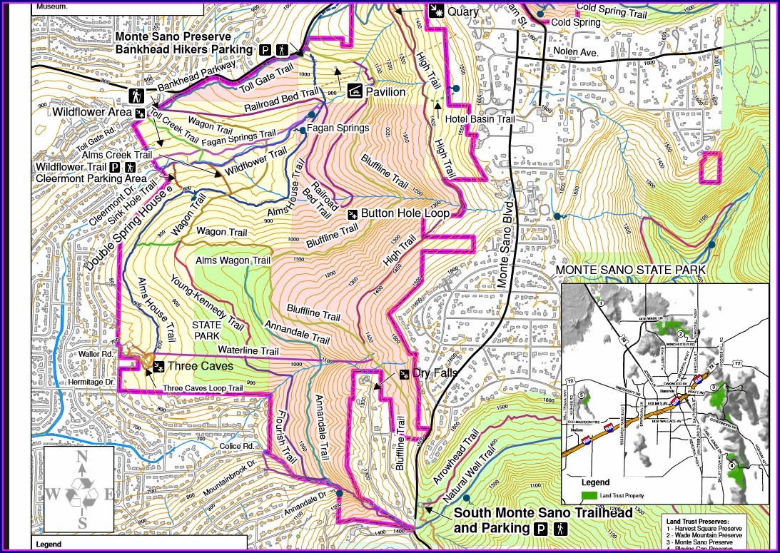 Monte Sano Land Trust Trail Map