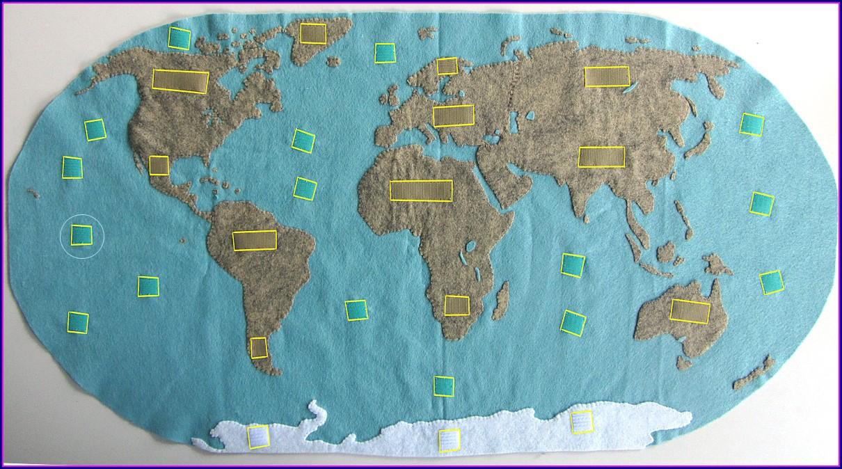 Montessori Continent Map Printable Free
