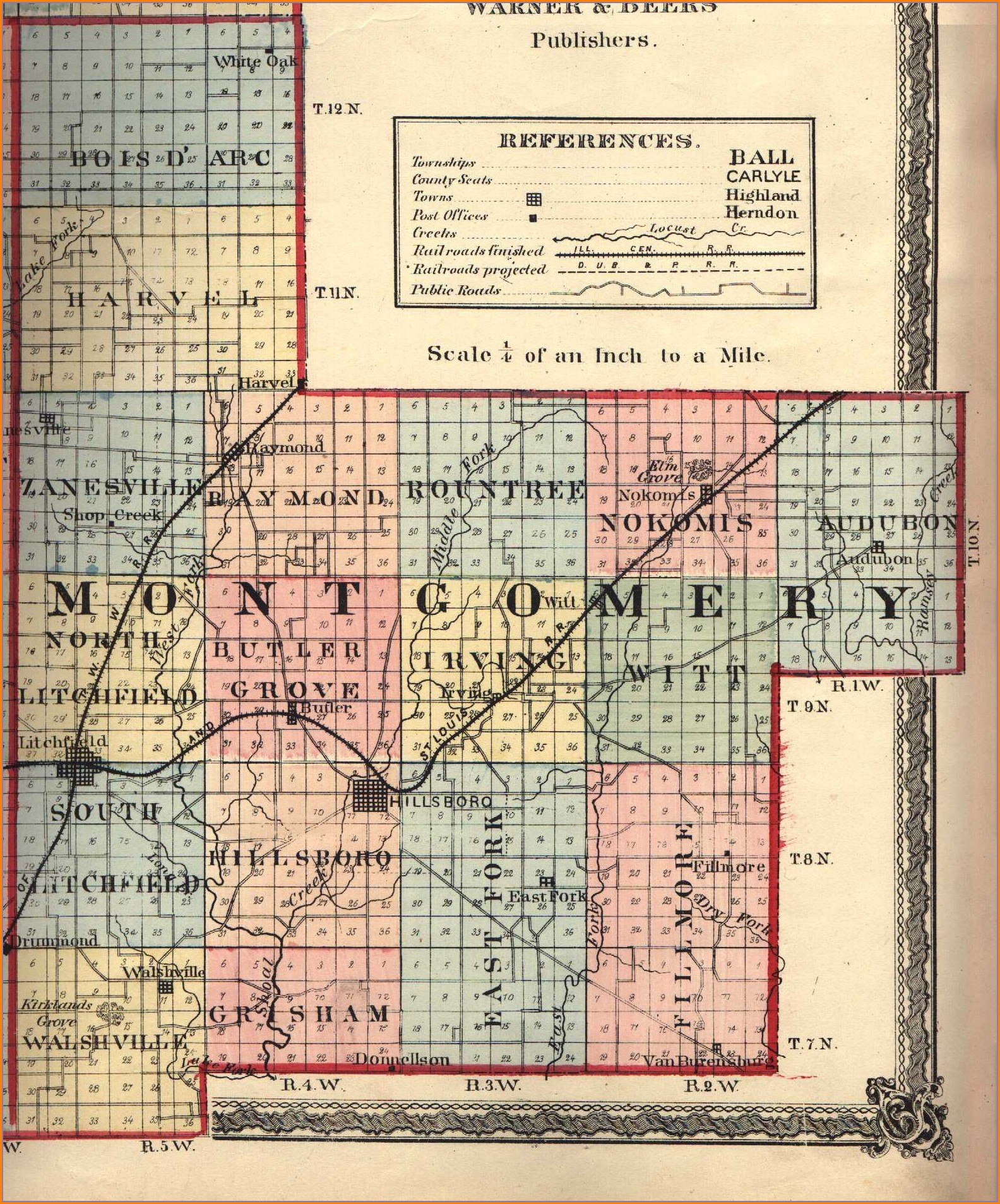 Montgomery County Il Plat Map