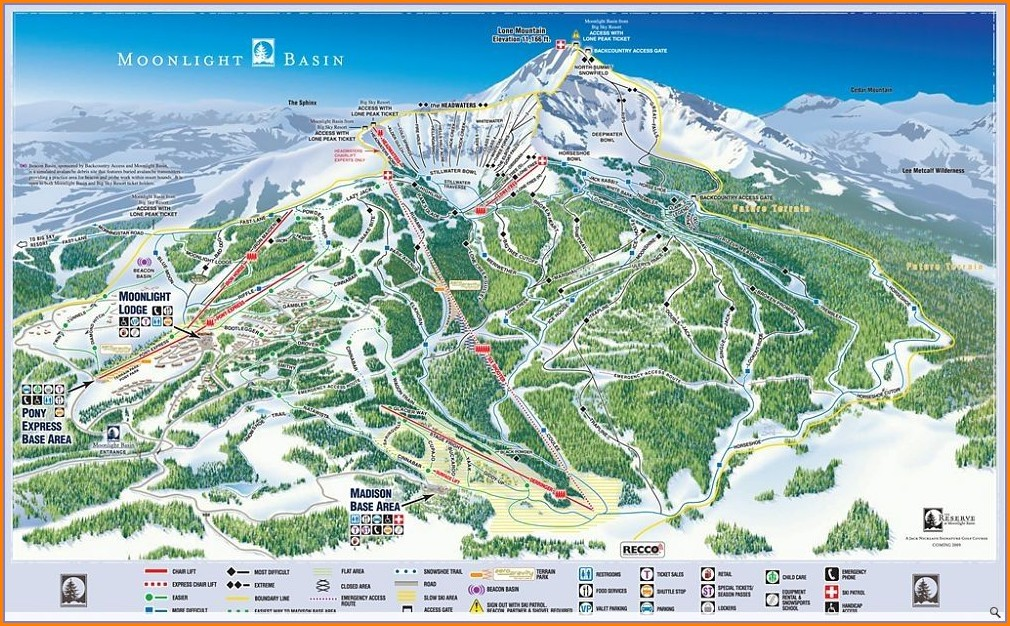Moonlight Basin Ski Map