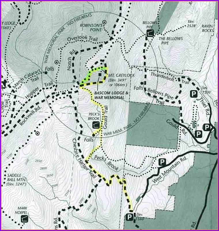 Mount Greylock Trail Map