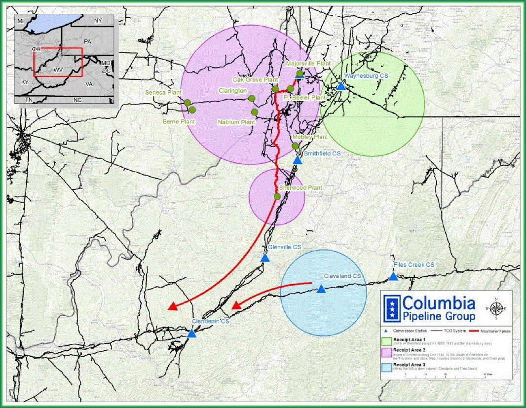 Mountaineer Xpress Pipeline Map