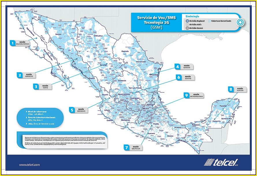 Movistar Mexico Coverage Map
