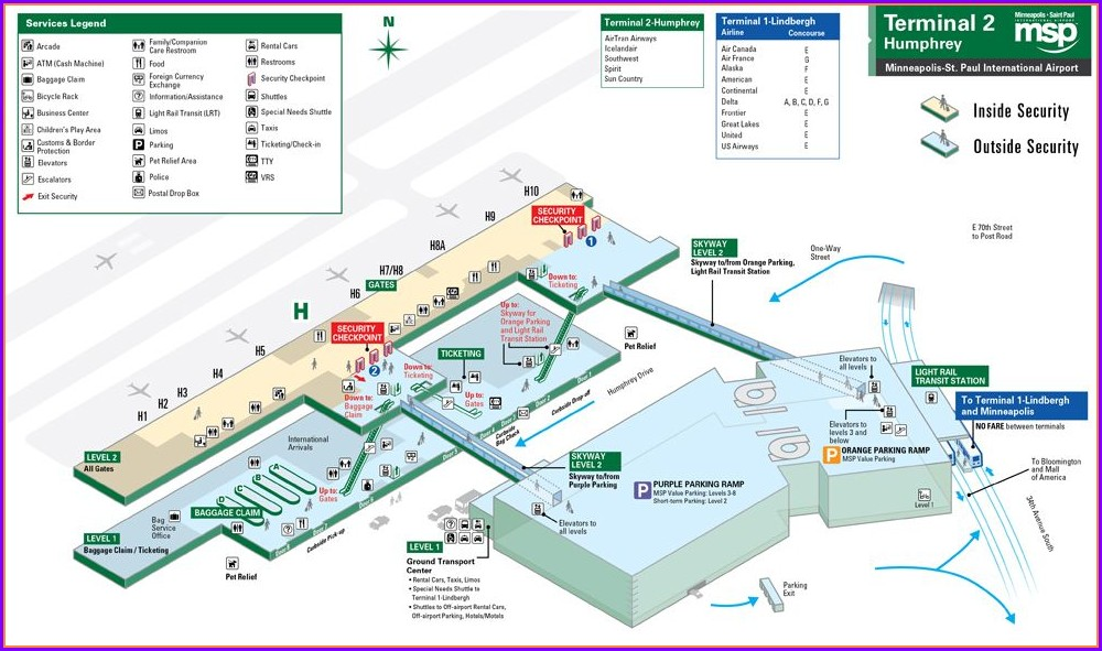Mpls St Paul Airport Map