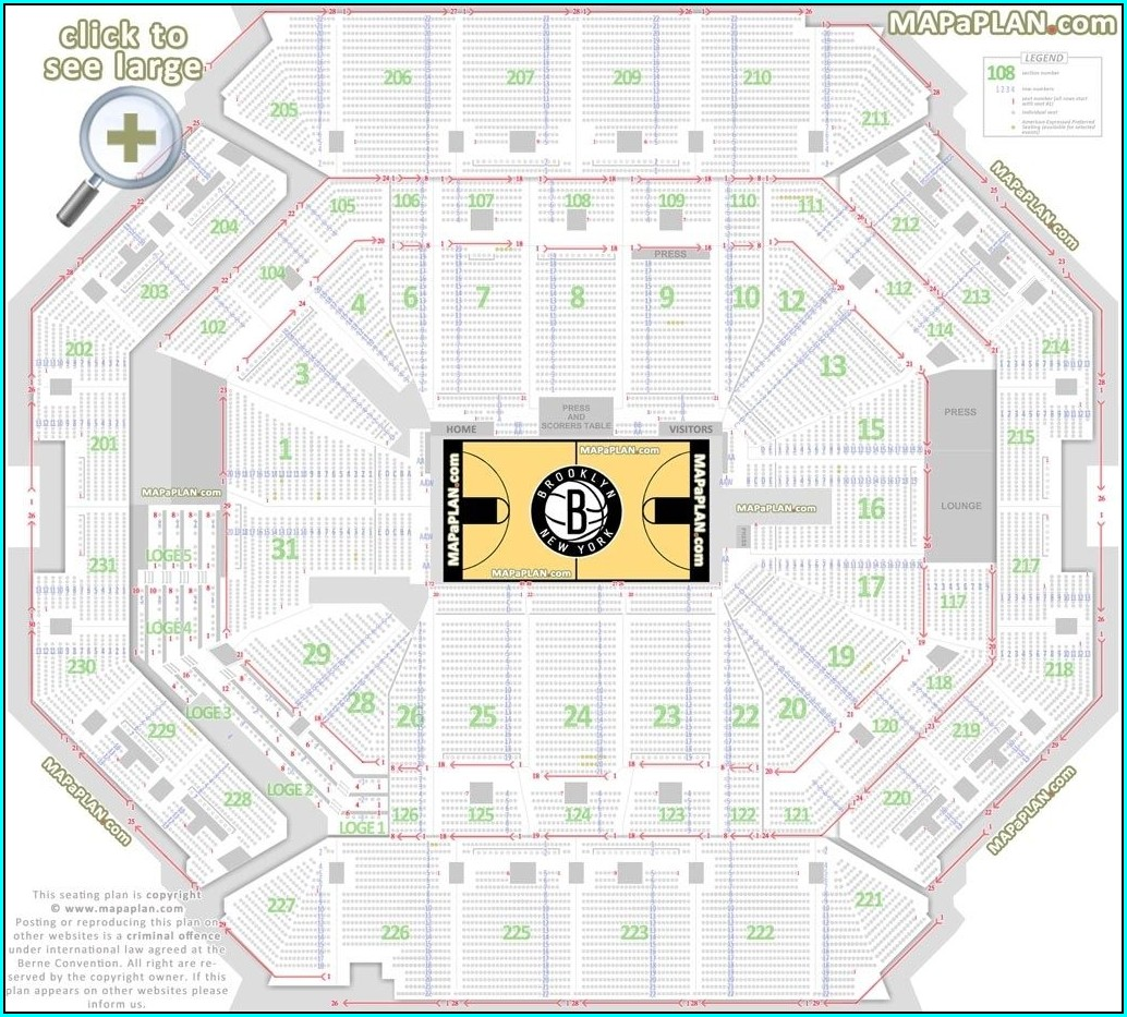 Msg Hockey Seating Map