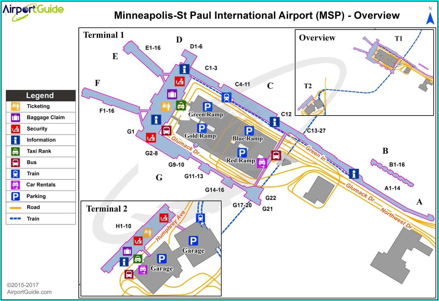 Msp Parking Ramp Map