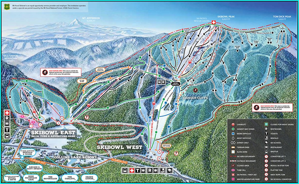 Mt Hood Ski Bowl Map
