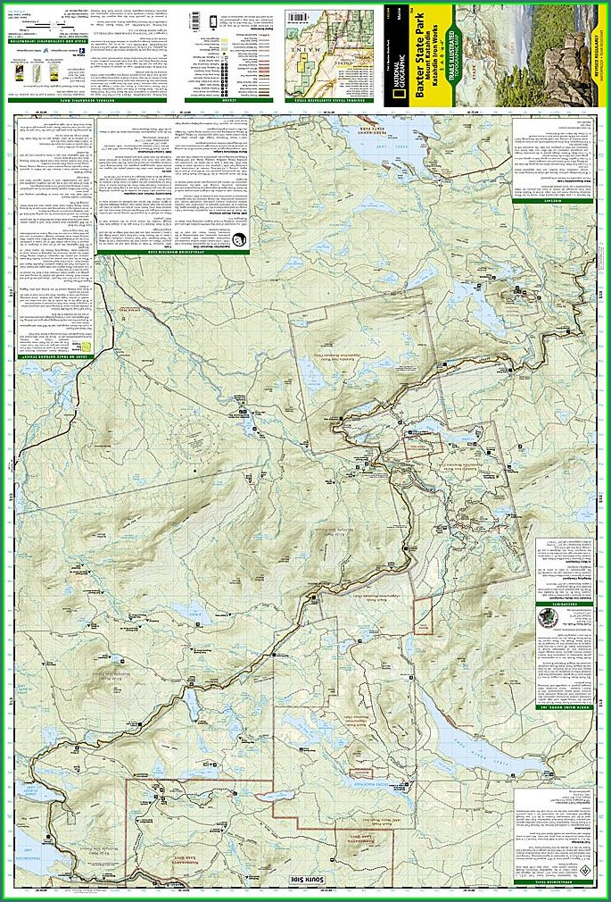 Mt Katahdin Maine Map