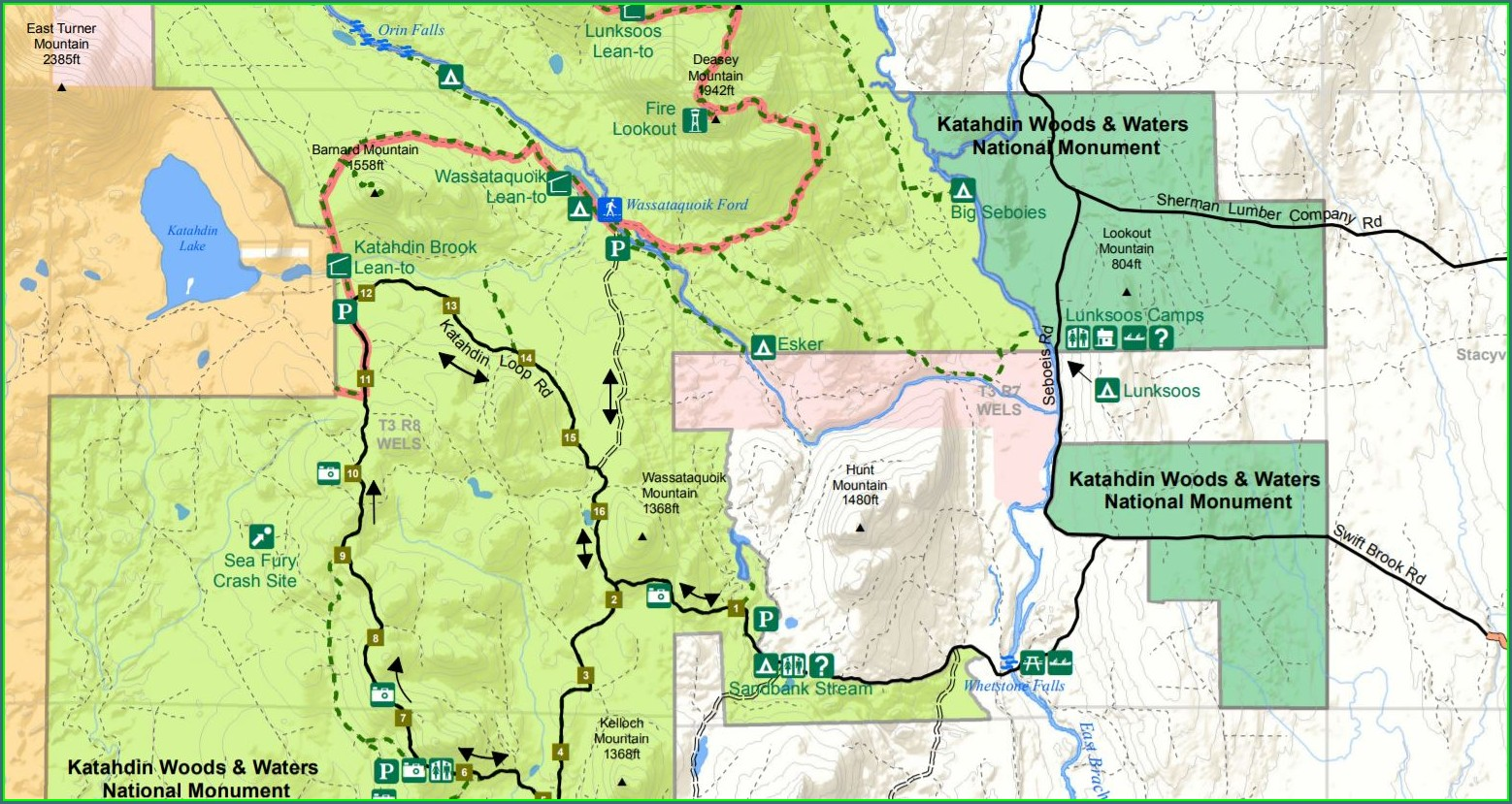 Mt Katahdin Trail Map