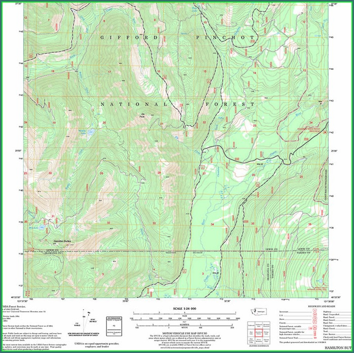Mt St Helens Trail Map Pdf