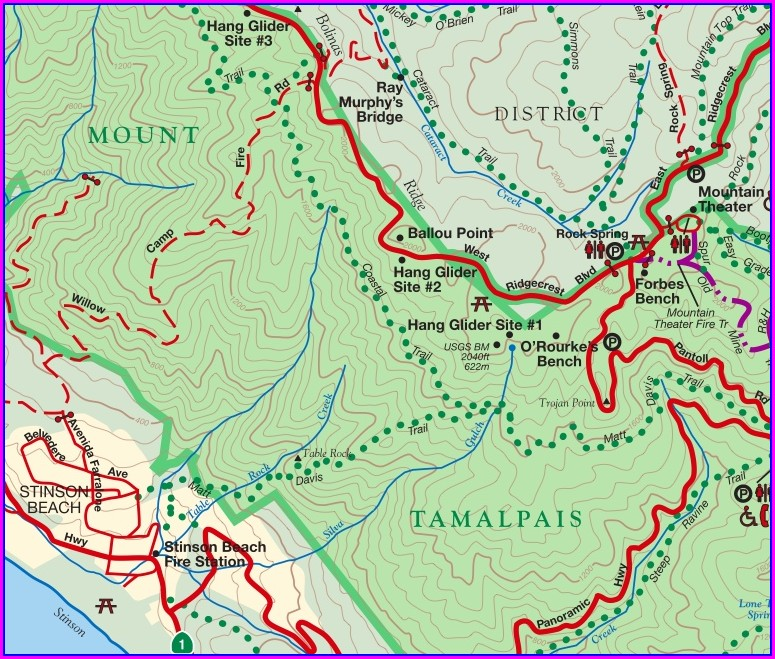 Mt Tam Trail Map Pdf