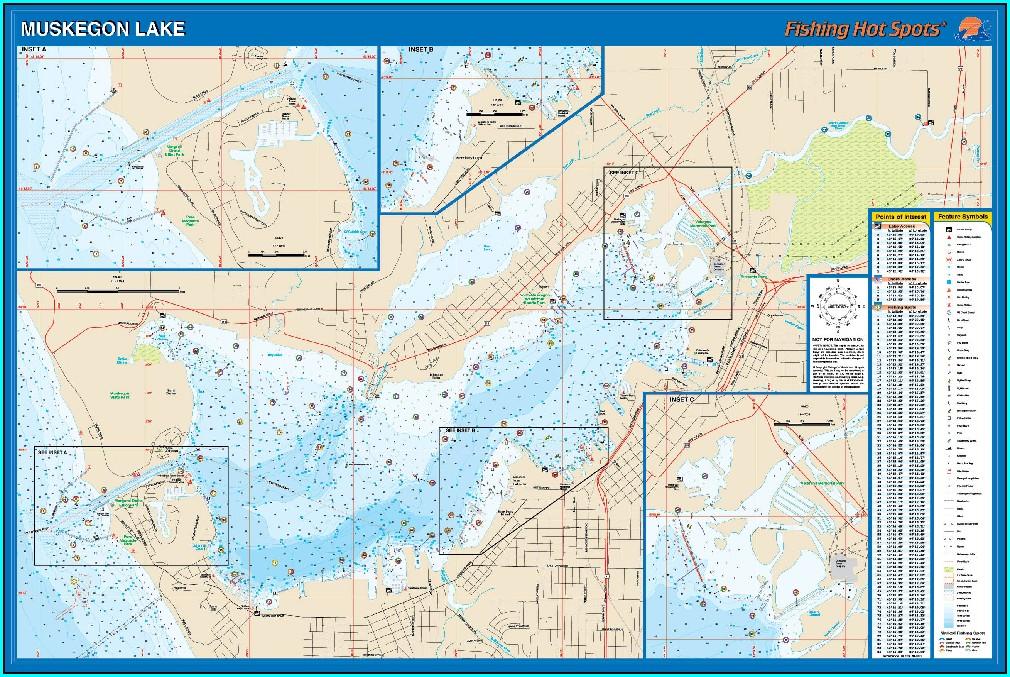 Muskegon Lake Topographic Map
