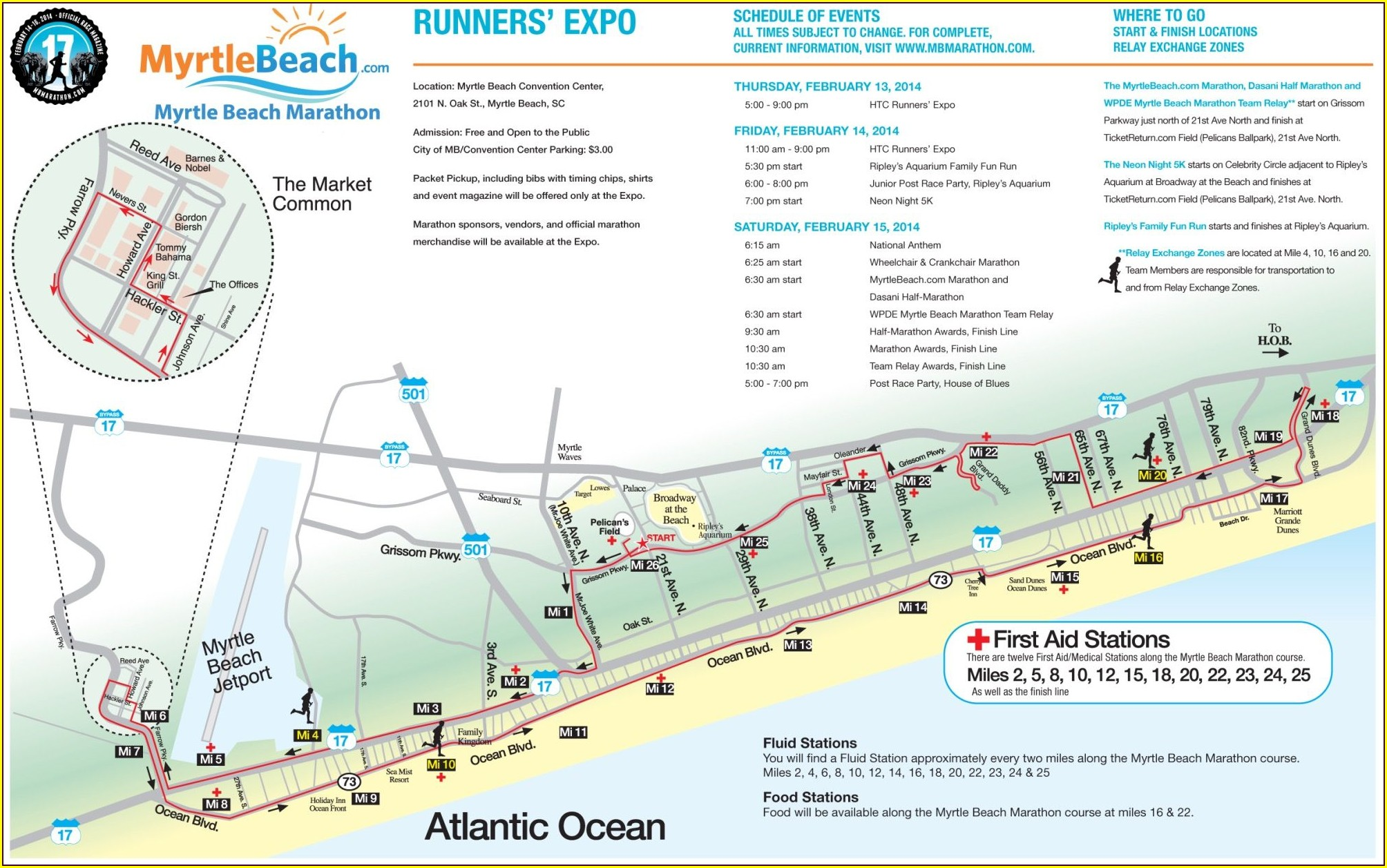 Myrtle Beach Marathon Course Map