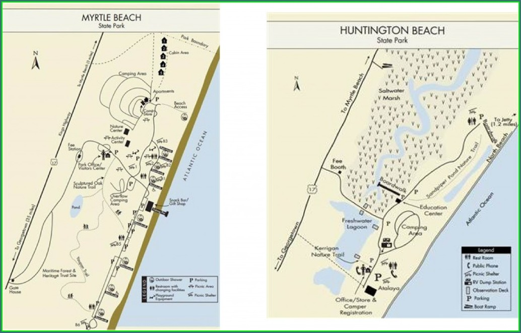 Myrtle Beach State Park Campground Map