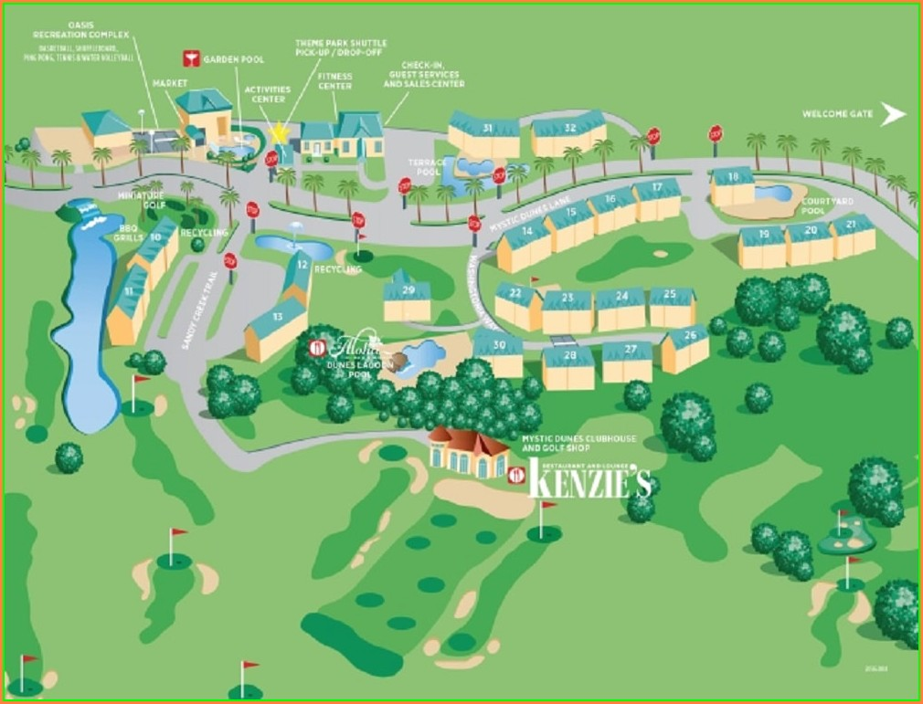 Mystic Dunes Resort Map