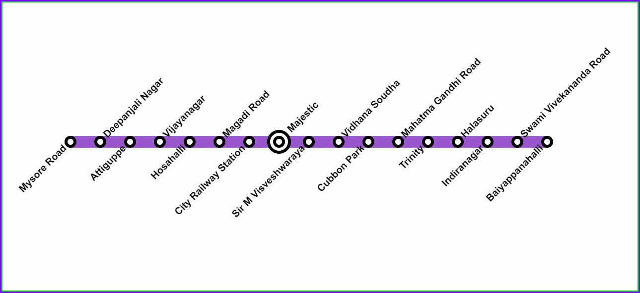 Namma Metro Purple Line Map