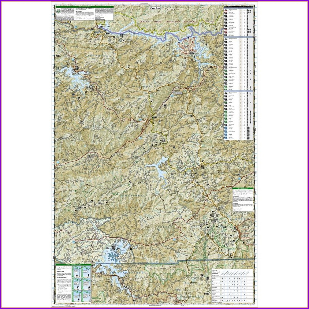 Nantahala National Forest Trail Map