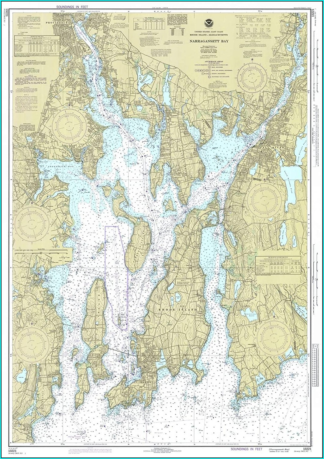 Narragansett Bay Islands Map
