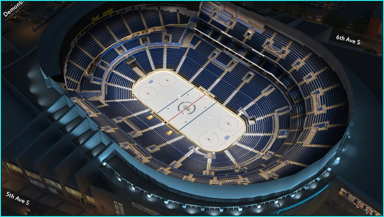 Nashville Predators Arena Map