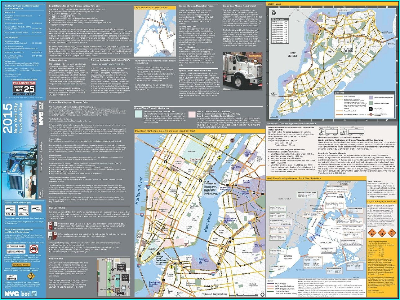 Nassau County Truck Route Map