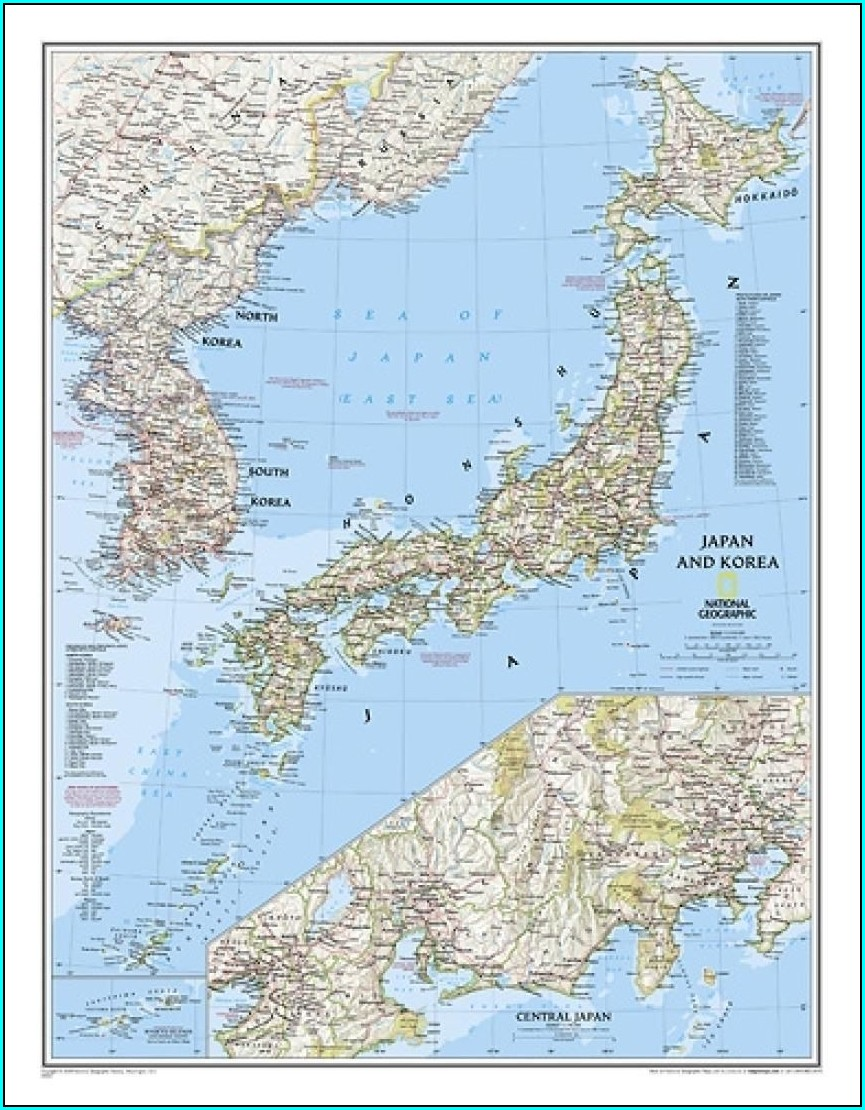 National Geographic Laminated Maps