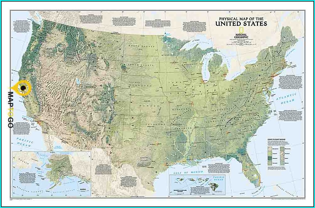 National Geographic Usa Wall Map