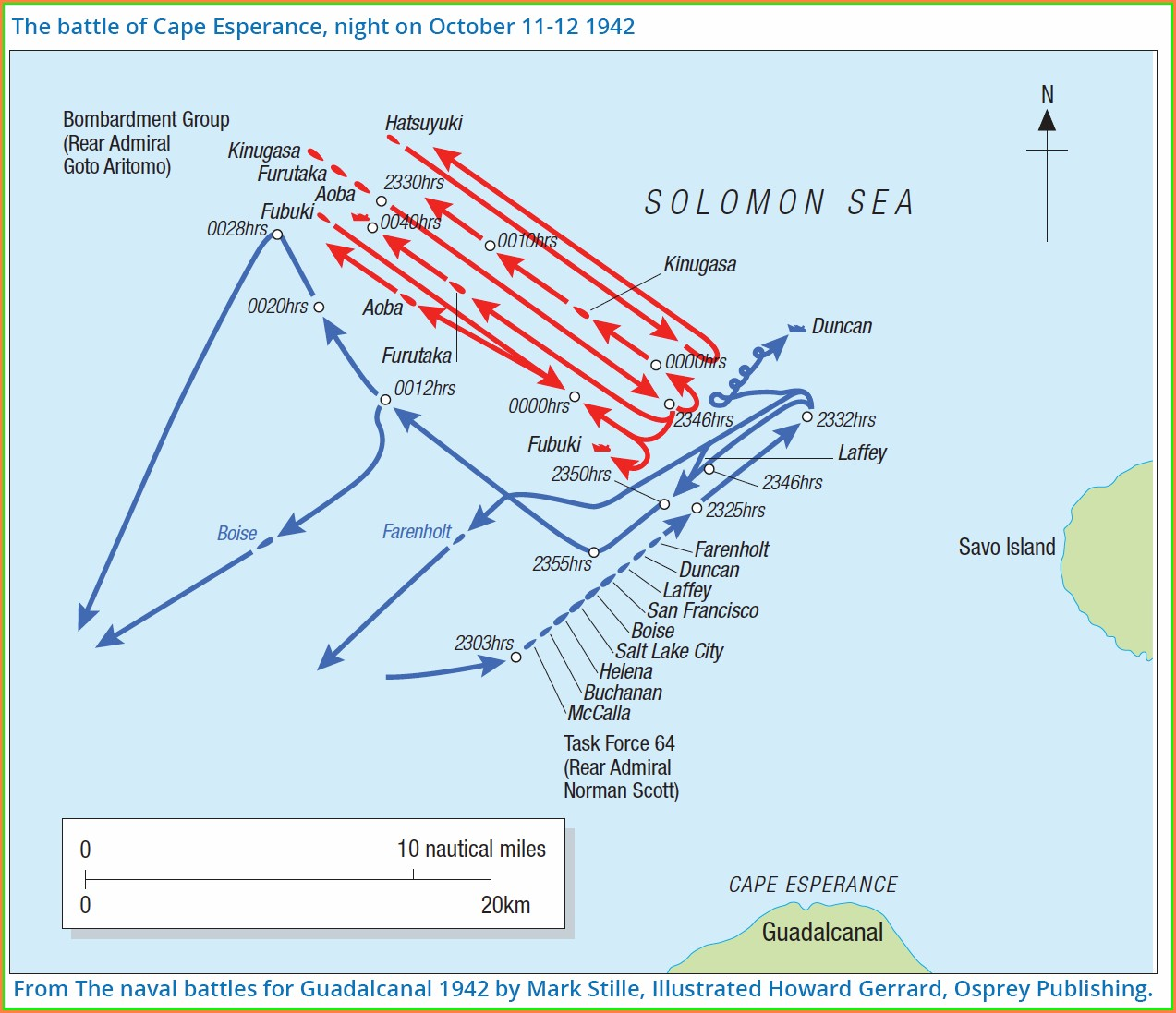 Naval Battle Of Guadalcanal Map