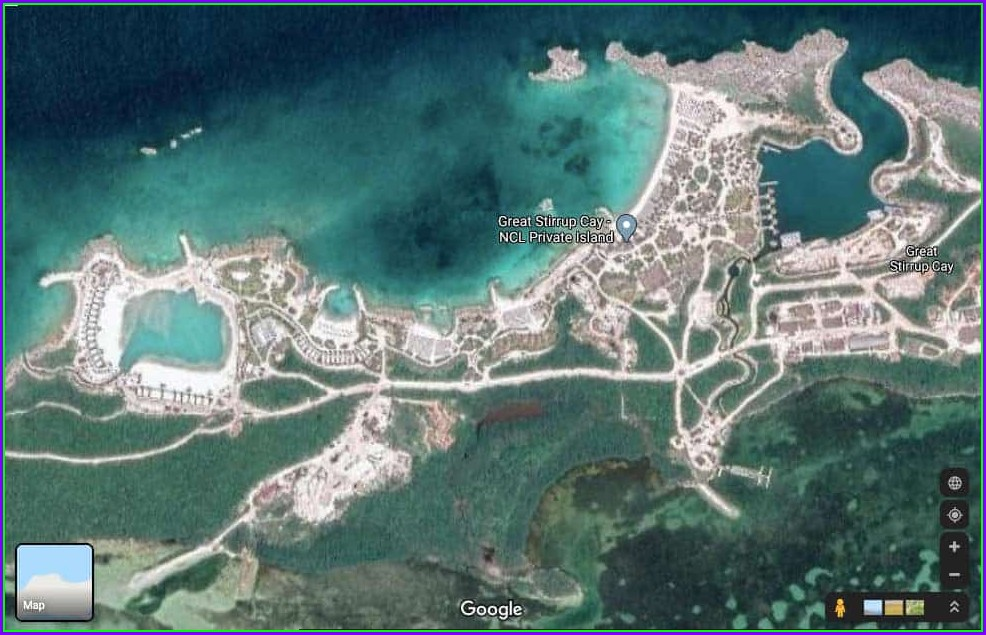 Ncl Great Stirrup Cay Map
